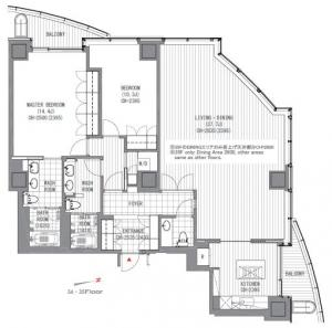Atago Green Hills Forest Tower 3506 Floor Plan