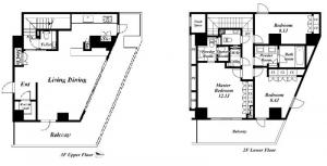Forest Terrace Toriizaka 3F Floor Plan