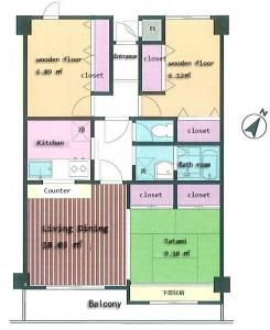 Toshin Heights Warabi Floor Plan